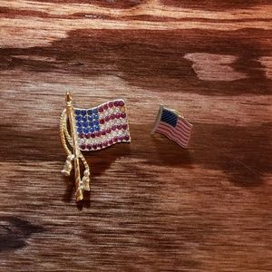 Jewelry - American Flag pins...set of 2.